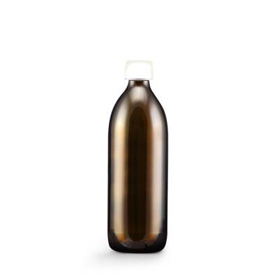 Skleněná láhev hnědá 500 ml + Uzávěr s pojistkou