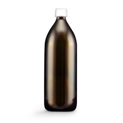 Skleněná láhev hnědá 1000 ml + Uzávěr s pojistkou